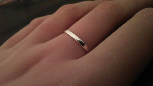 Solid Sterling Silver 925 Flat Shape 2mm Plain Wedding Ring Band